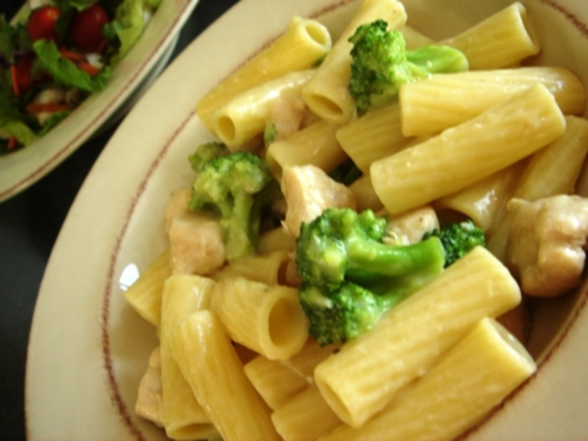 HOME MADE CHICKEN ZITI AND BROCCOLI