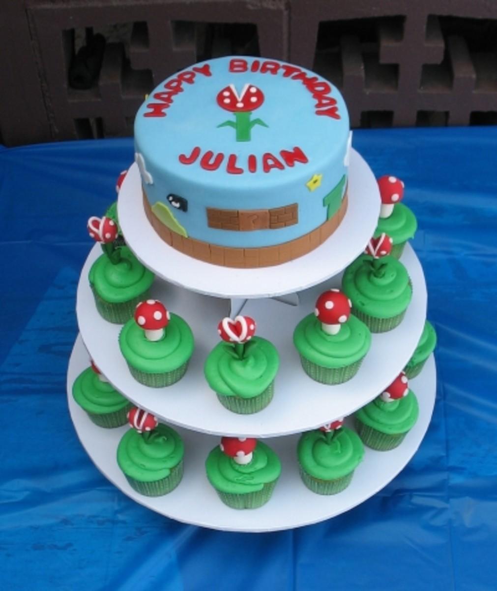 Awesome Super Mario Cake and Cupcake Tower!