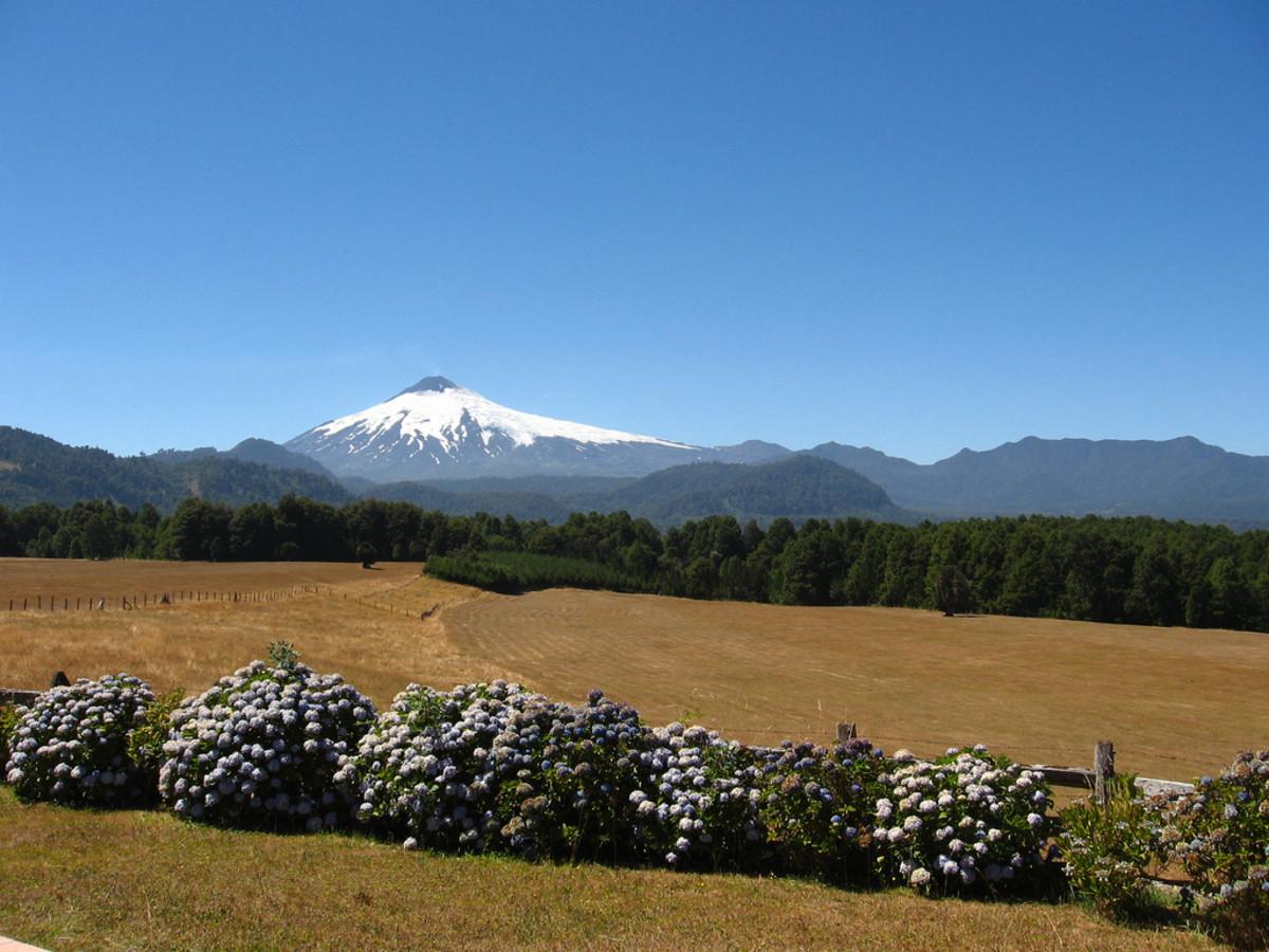 A famous landmark in Chile: Villarica Volcano