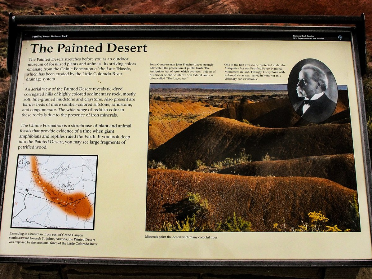 This photo is of a sign at the Painted Desert in Arizona.