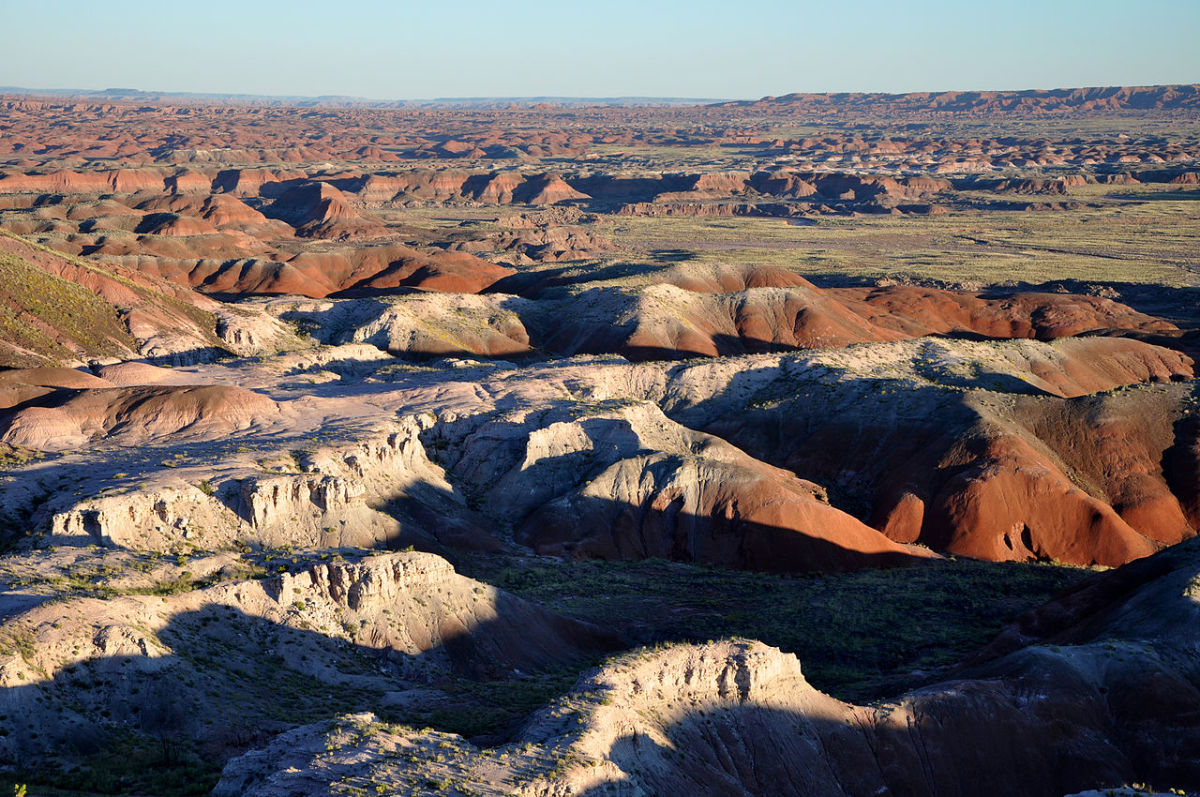 Painted Desert badlands as seen from Tawa Point in Petrified Forest National Park in northeastern Arizona