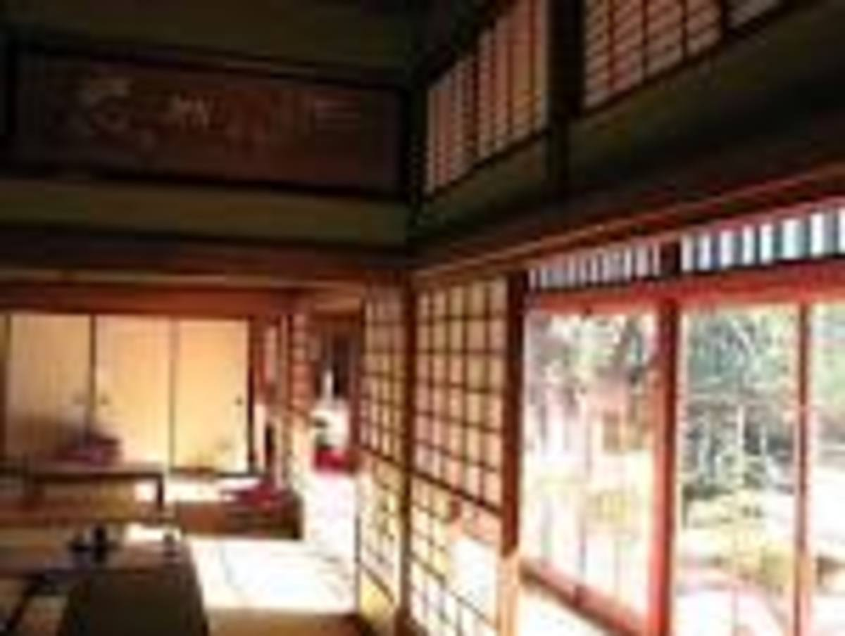 Japanese old design house with partition