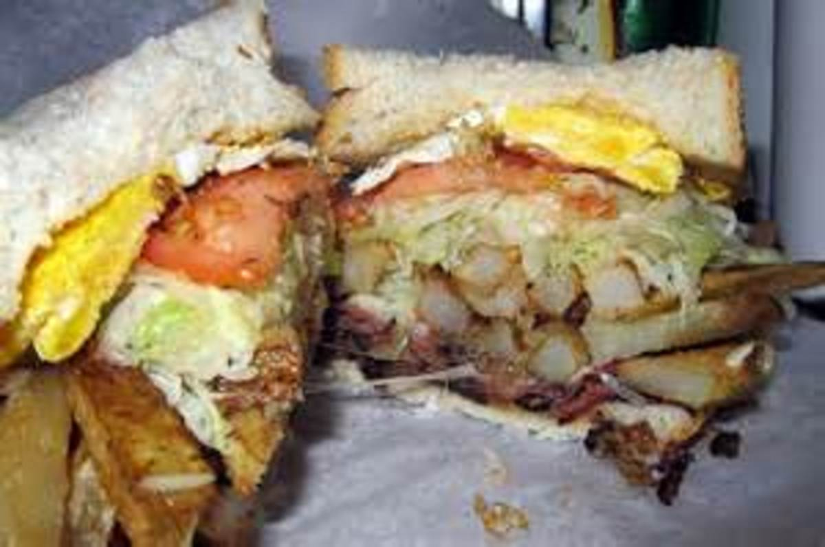 The Truck Driver Egg Sandwich at Primanti Bros. as it originated to feed truckers delivering to the Strip District.