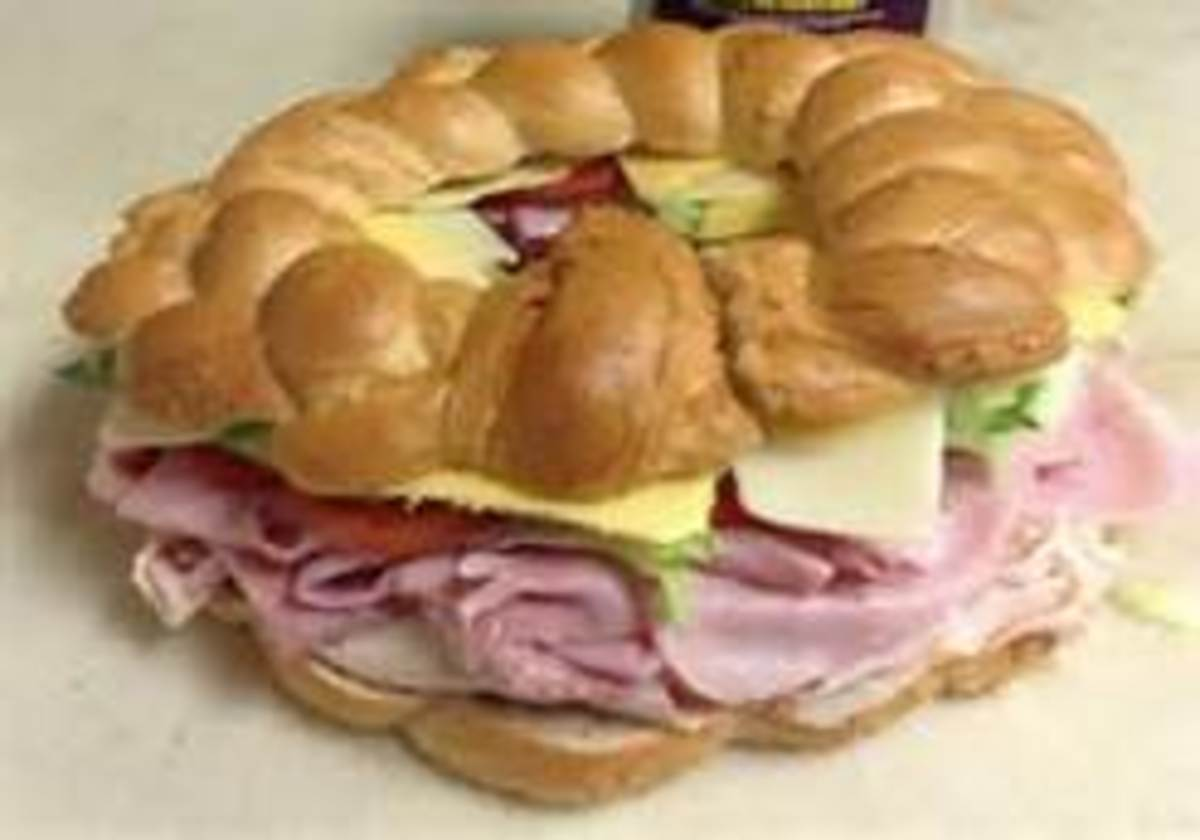 The ultimate Hoagie or Sandwich Ring for parties.