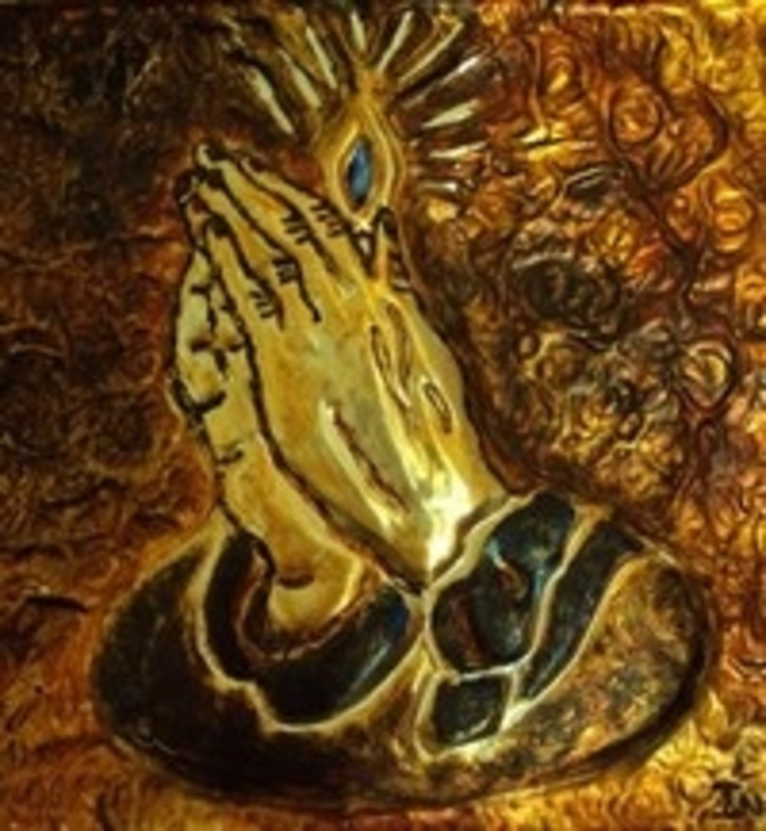 Praying Hands Metal Art by Injete Chesoni