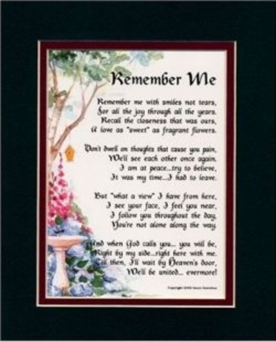 Memorial Poems Quotes And Gifts Remembering My Father Hubpages