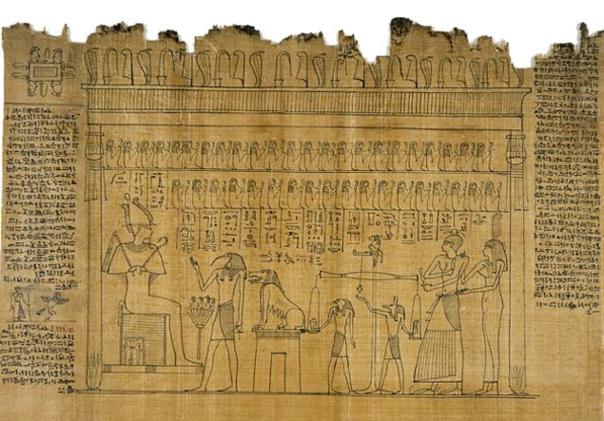 Found on the original papyrus,  of  the Book of the Dead is the Weighing of the Heart scene representing the individual judgement of the deceased