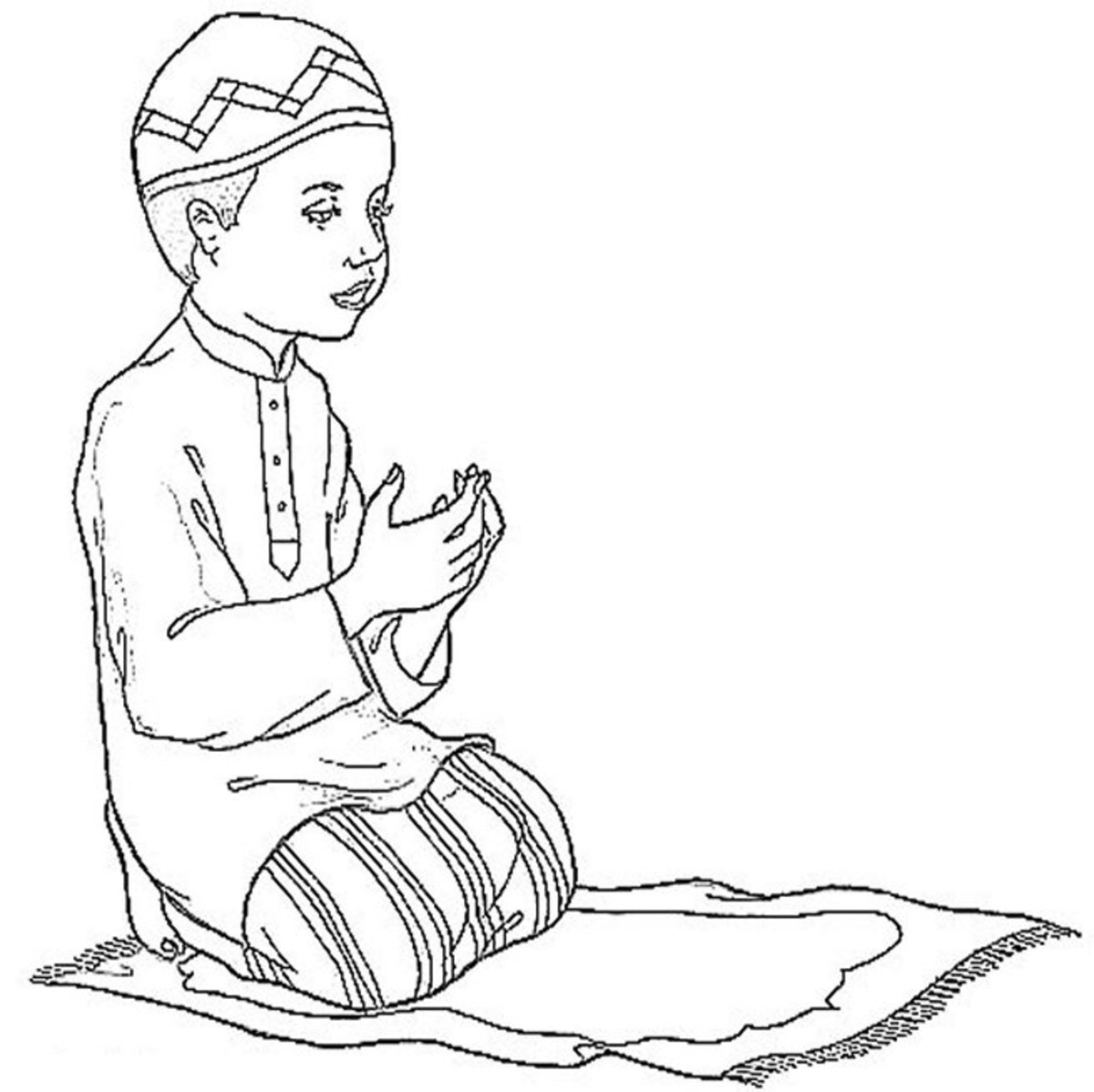Islamic Pictures -  Colouring Pictures to print-and-color online..