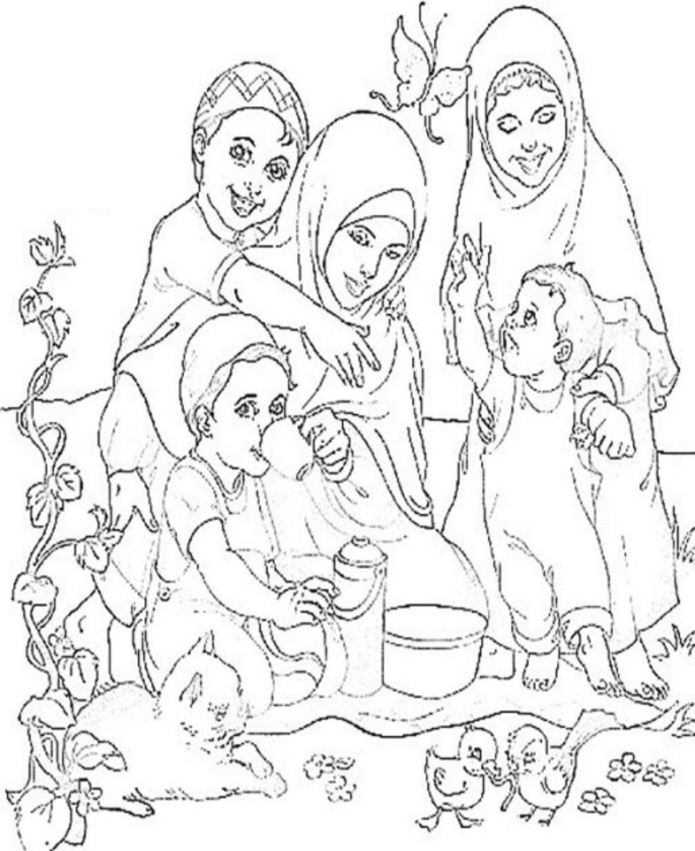 Culture of Islam Kids Colouring Pictures to Printand
