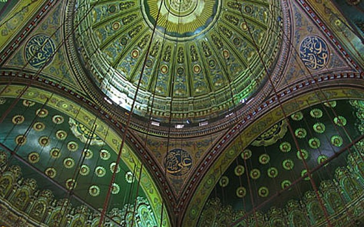 In Islamic Culture Heaven is the color Gold and Green