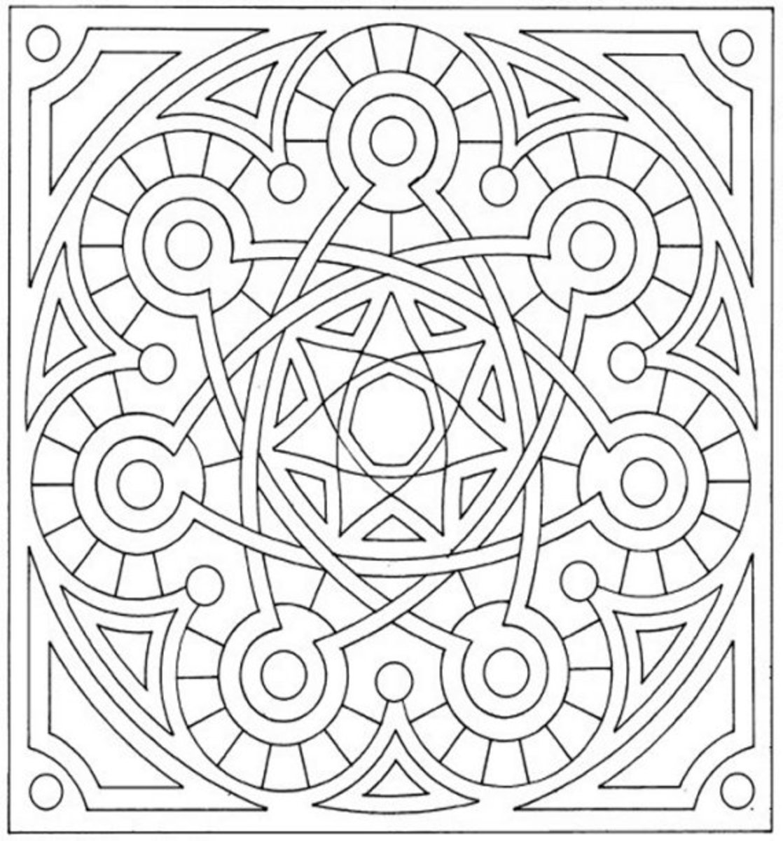 Mandala Pattern A3 - Colouring Pictures to print-and-color online.