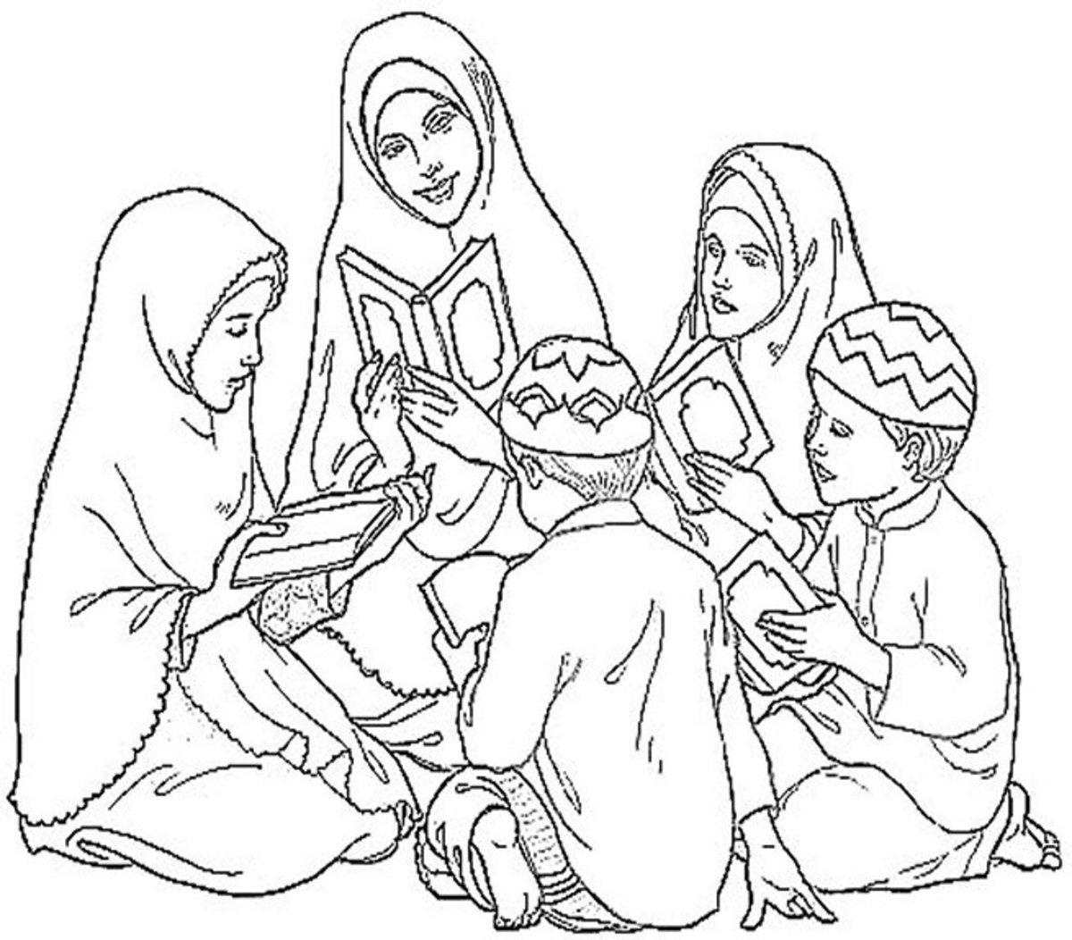 رسومات إسلامية للتلوين عن الحج