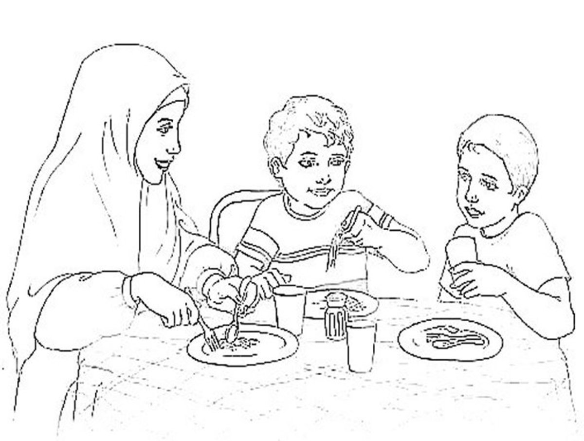 Islamic Pictures - Colouring Pictures to print-and-color online.