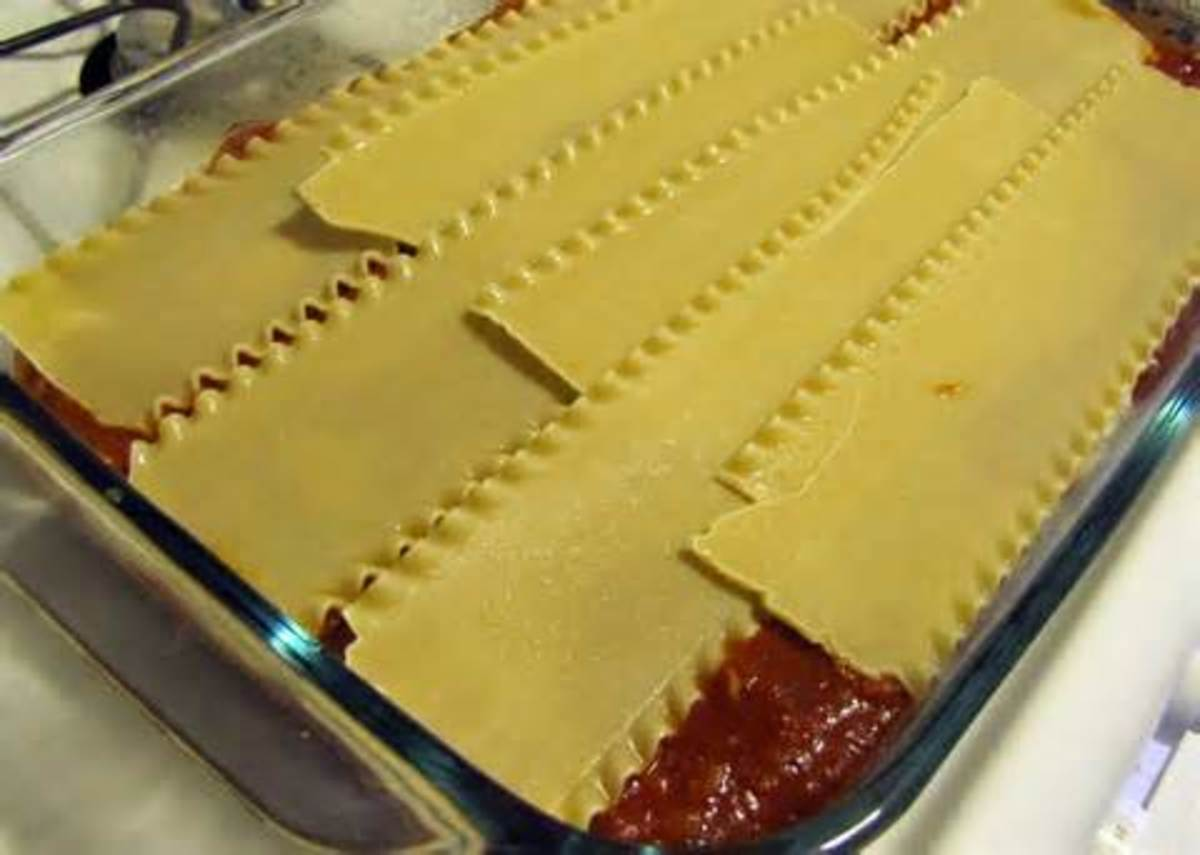 using uncooked lasagna noodles