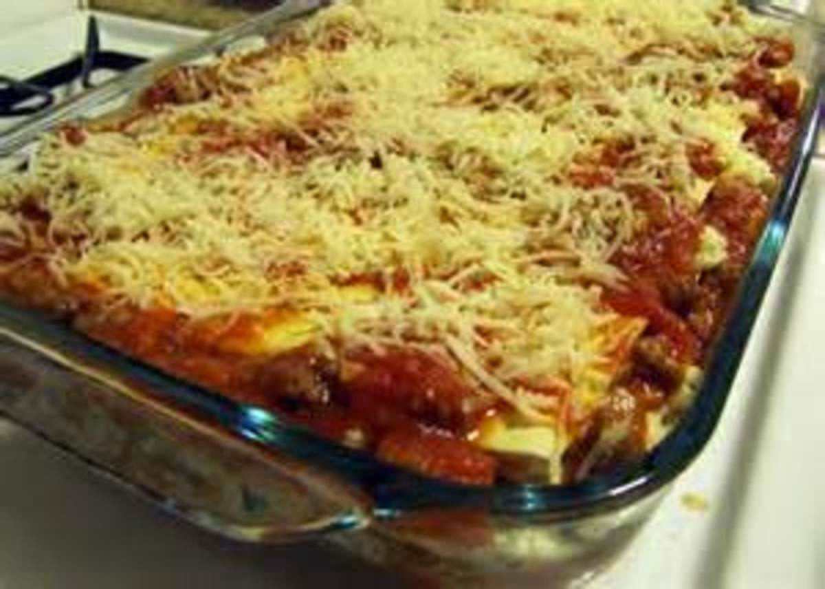 top layer of Mozzarella, Parmesan and Romano Cheese