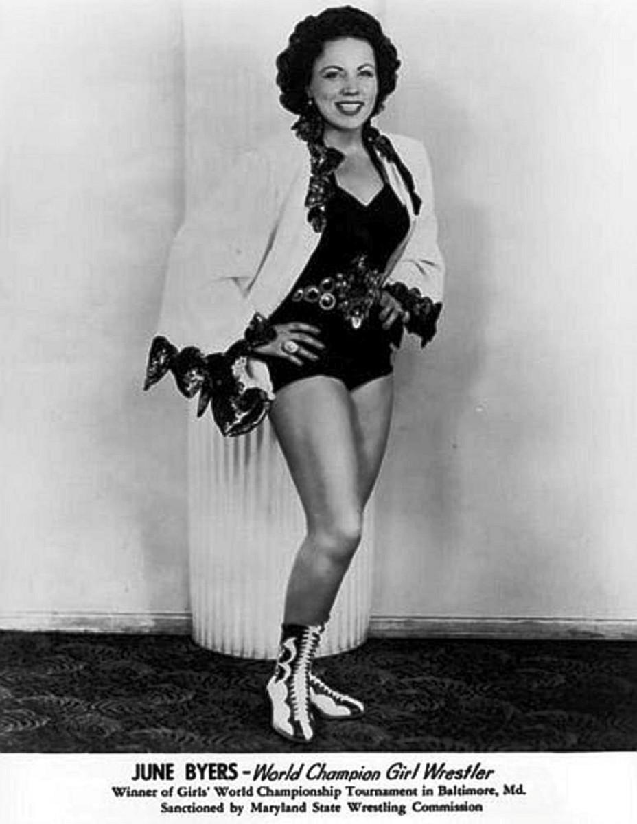 """June Byers """"World Champion Girl Wrestling"""""""