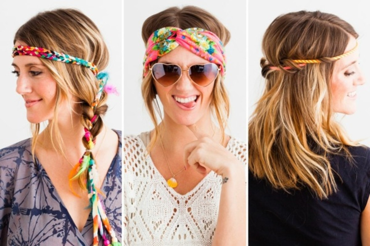 Modern hippie headbands