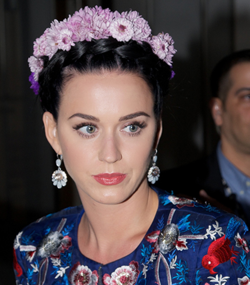 Katy Perry in a floral crown