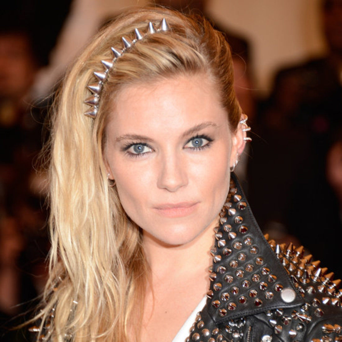 Sienna Miller in a metal spike headband