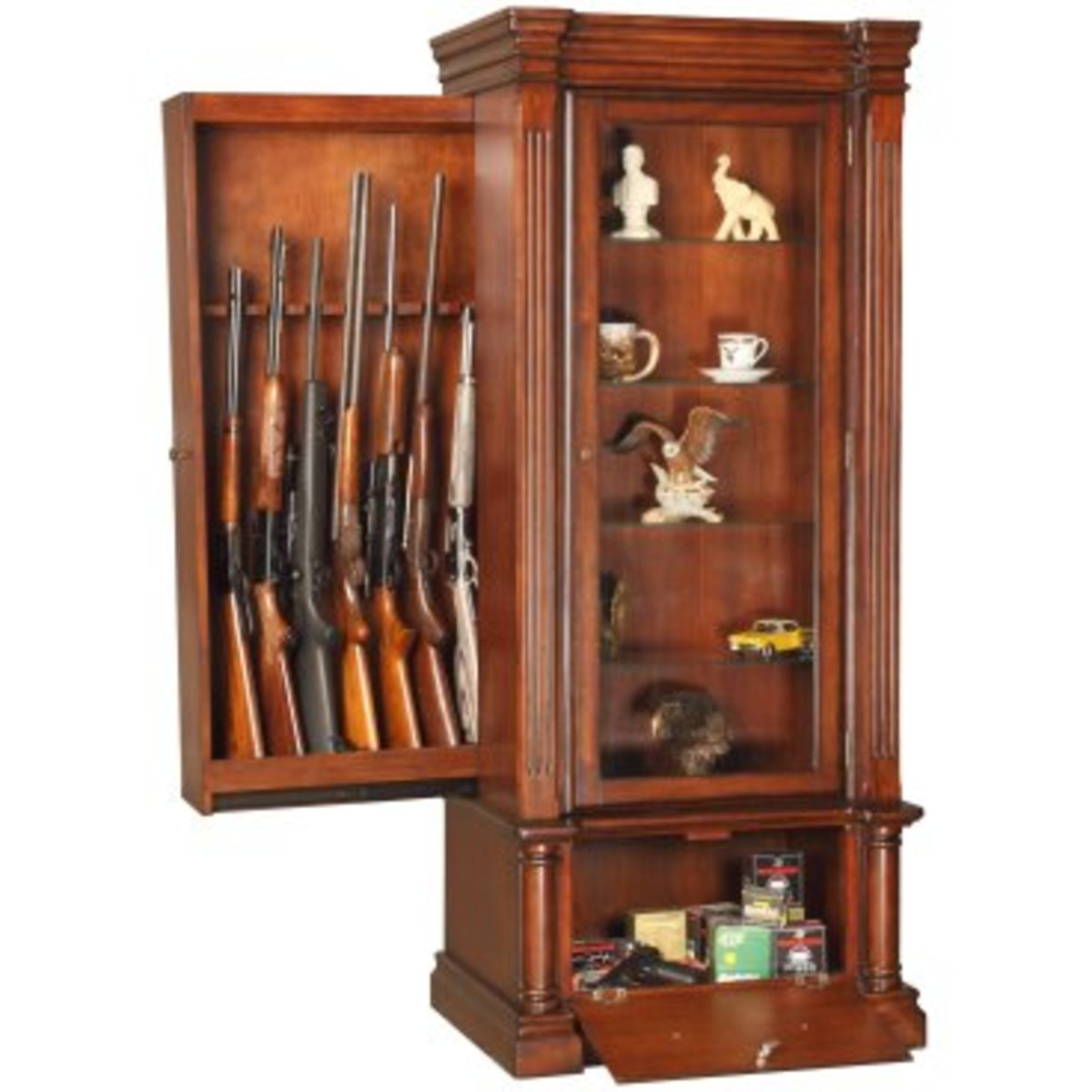 hidden wood gun cabinet plans