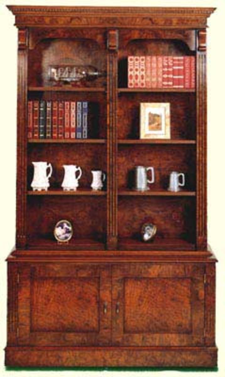 Hidden gun Cabinet in Double Library