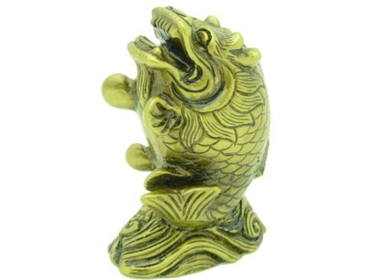 Dragon carp Feng Shui Symbol for Success and Wealth