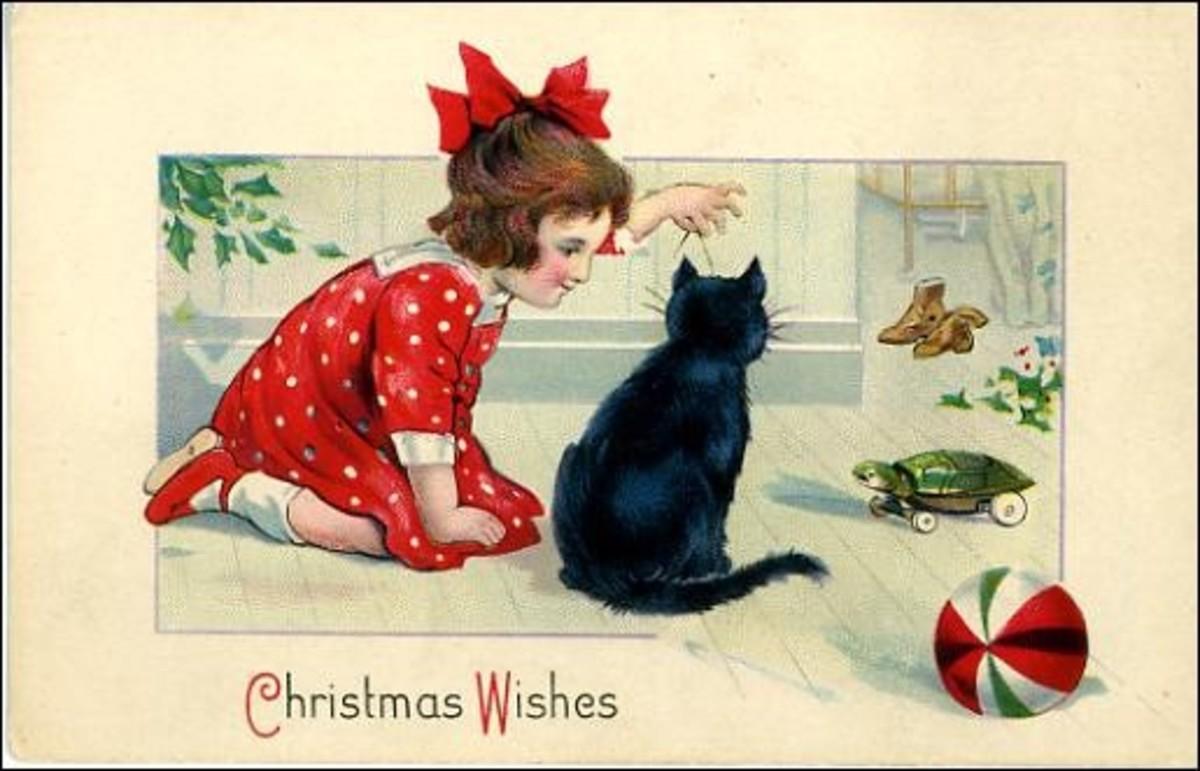 vintage christmas children images. Fantastic vintage Christmas card.