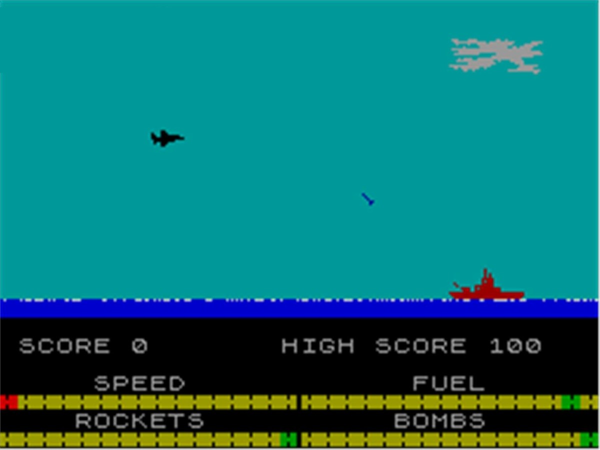 The Scramble inspired Harrier Attack! - ZX Spectrum