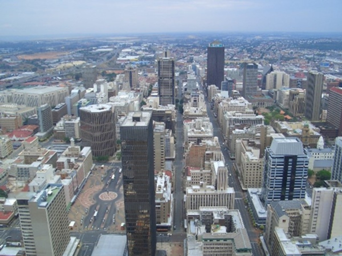 A View of the City of Johannesburg in South Africa