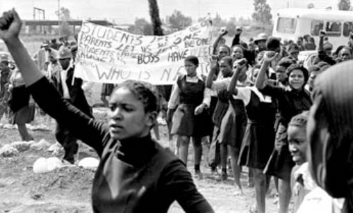 1976 Students Protesting Afrikaans and Apartheid