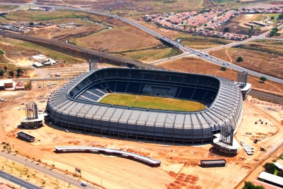 Newly rebuilt Orlando East Stadium, in one of Soweto's Oldest Township known as Orlando East, near the City of Johannesburg