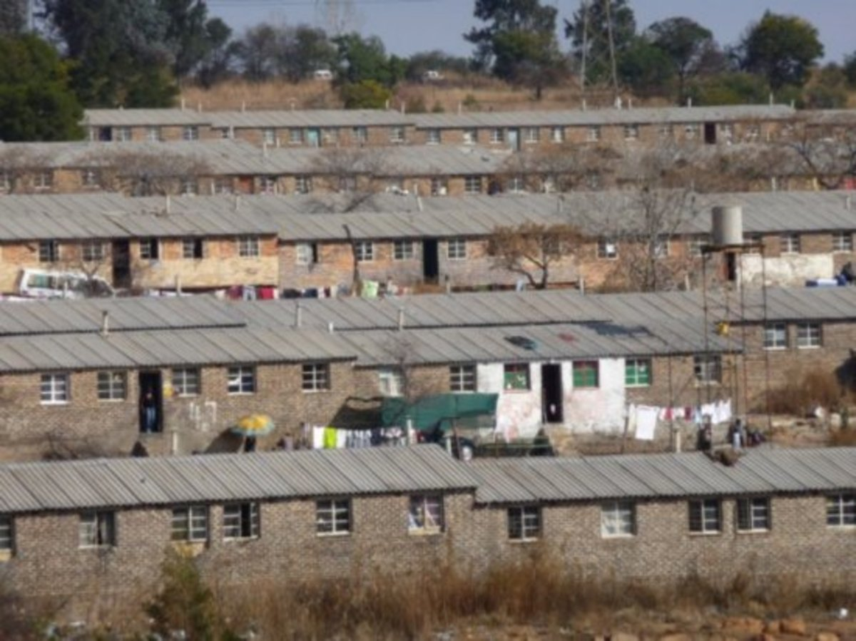 Known Hostels, built for migrant workers and built throughout Soweto. Only men were allowed in these premises