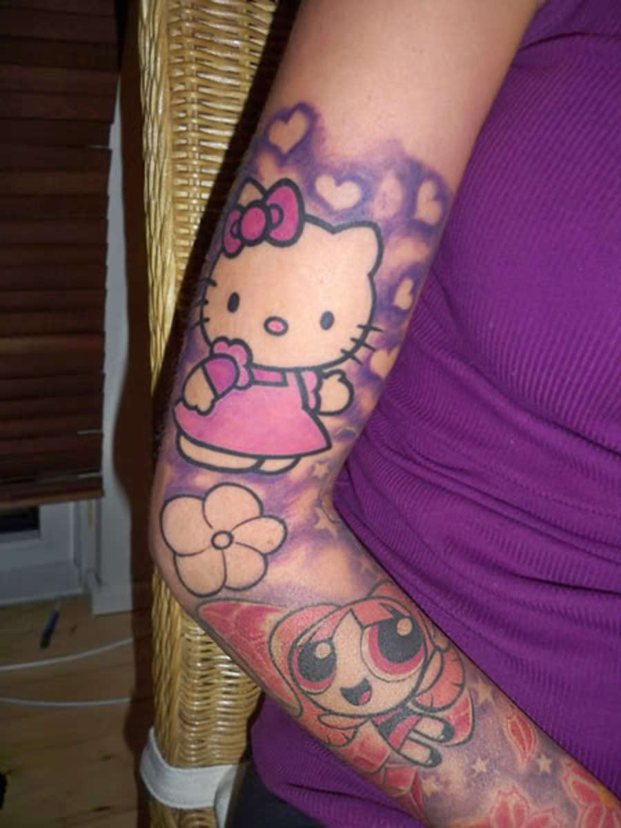 Ahhh yes, Hello Kitty and heartswhat else could a girl want?