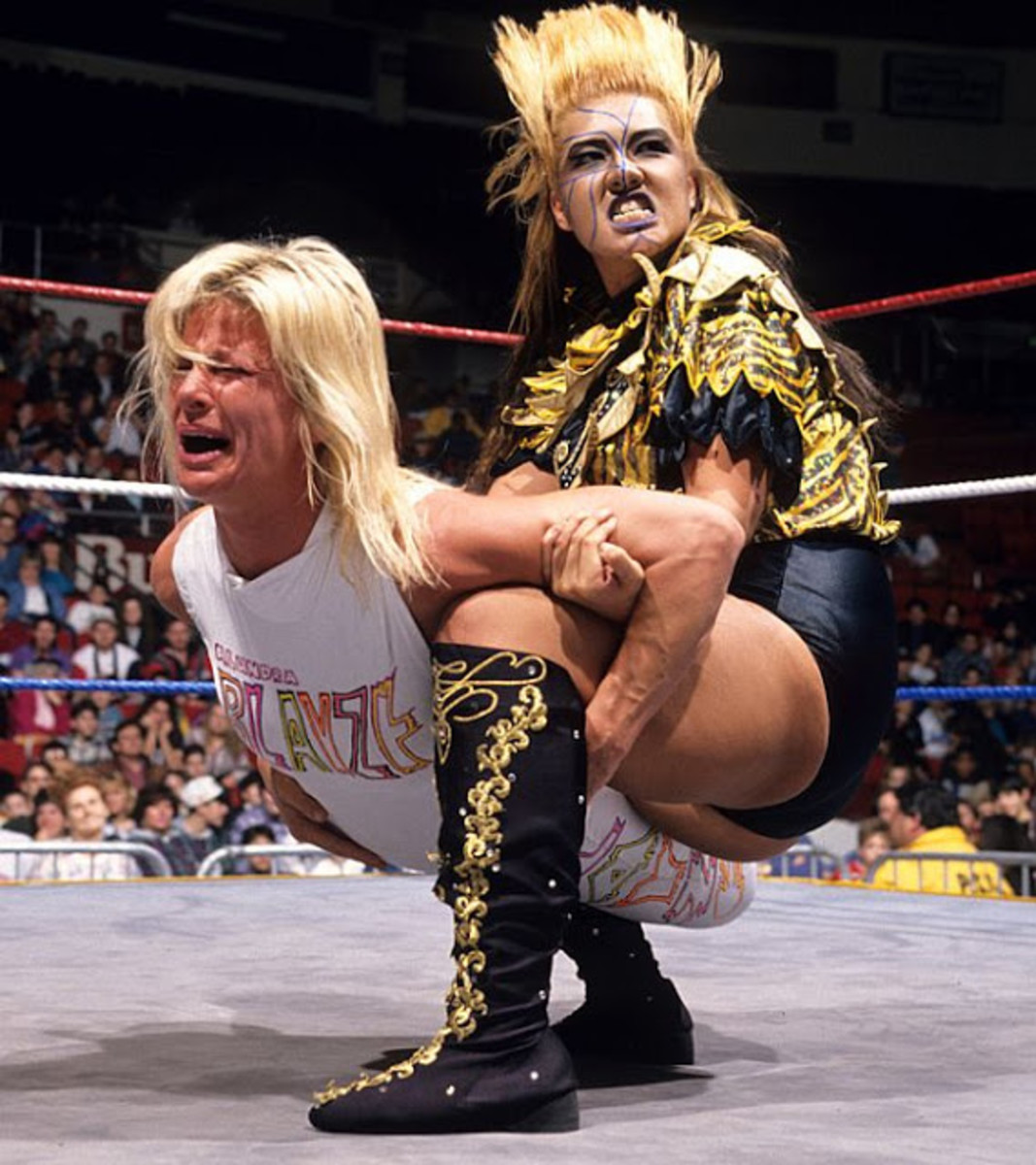 Bull Nakano punishing Madusa