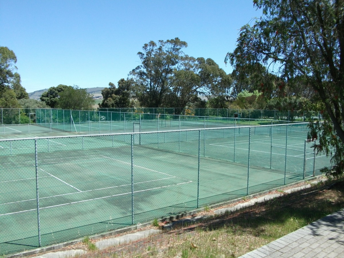 The old tennis courts