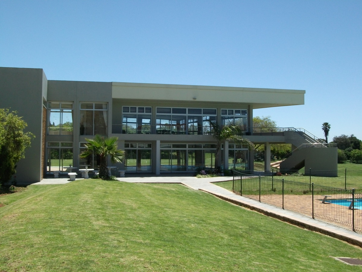 Sideview of the new building, used for cultural purposes. It was constructed in 2006.