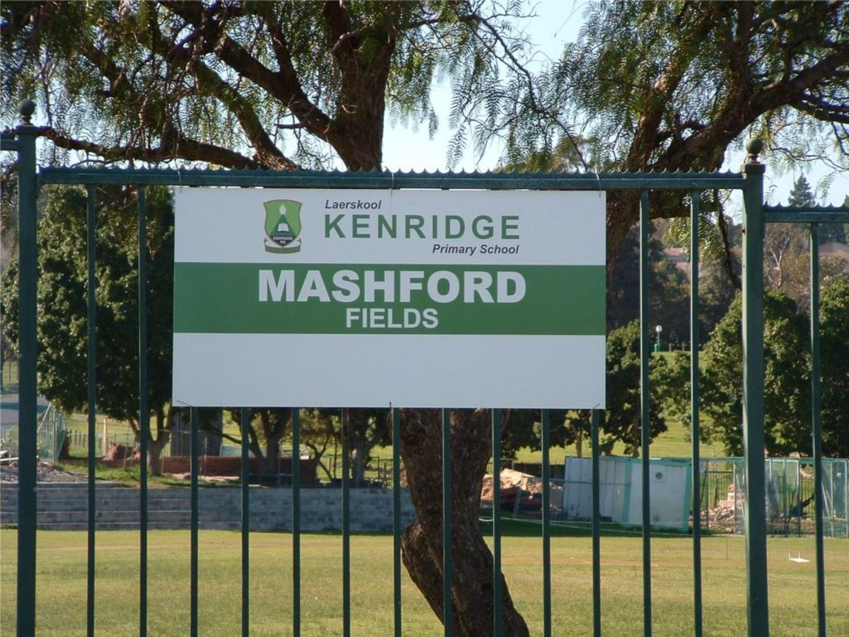 Mashford fields, named after Mrs. P. Mashford.