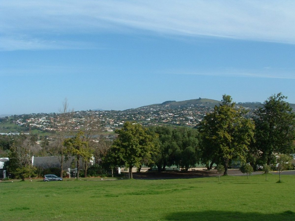 View of the surrounding hills. The Scout Hall is down at the bottom of the field.