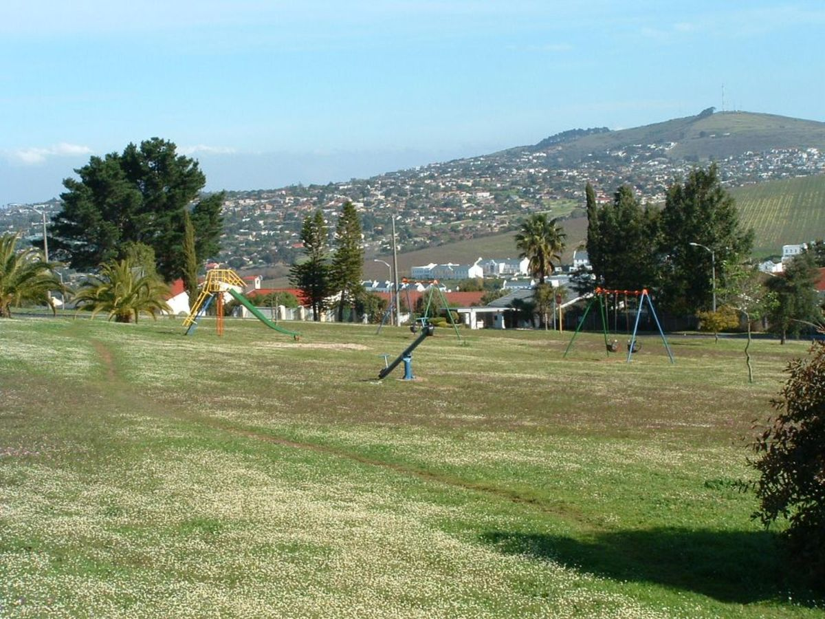 One of the local parks, Salisbury Park, in Kenridge Heights, near Durbanville Hills.