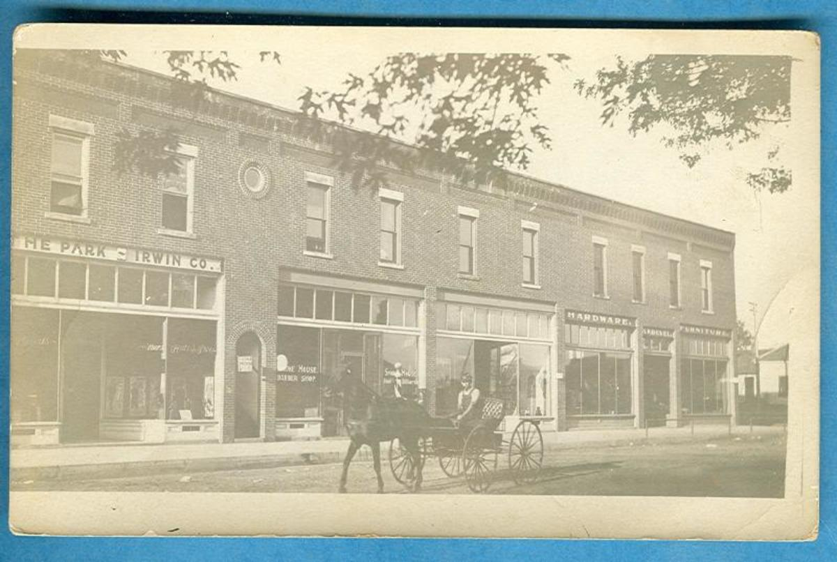 Tyro downtown around 1910 (photo courtesy of Jack Irwin).