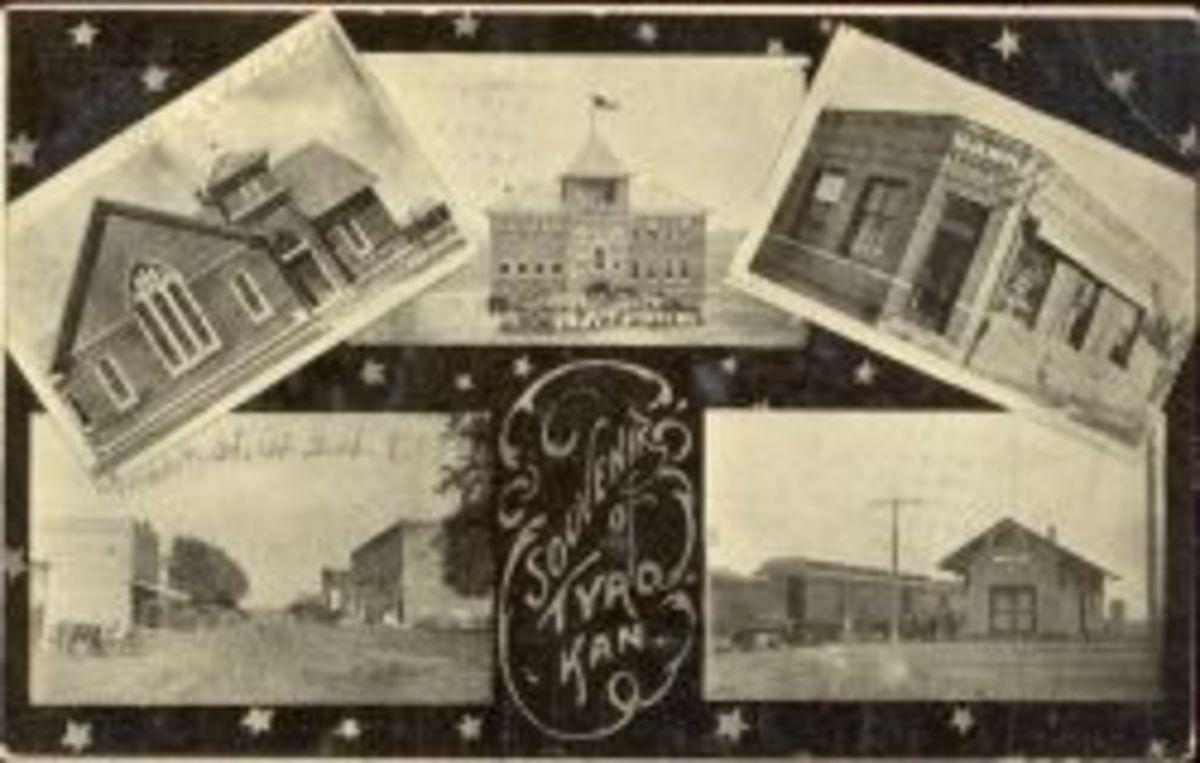 tyro kansas downtown postcards 1910