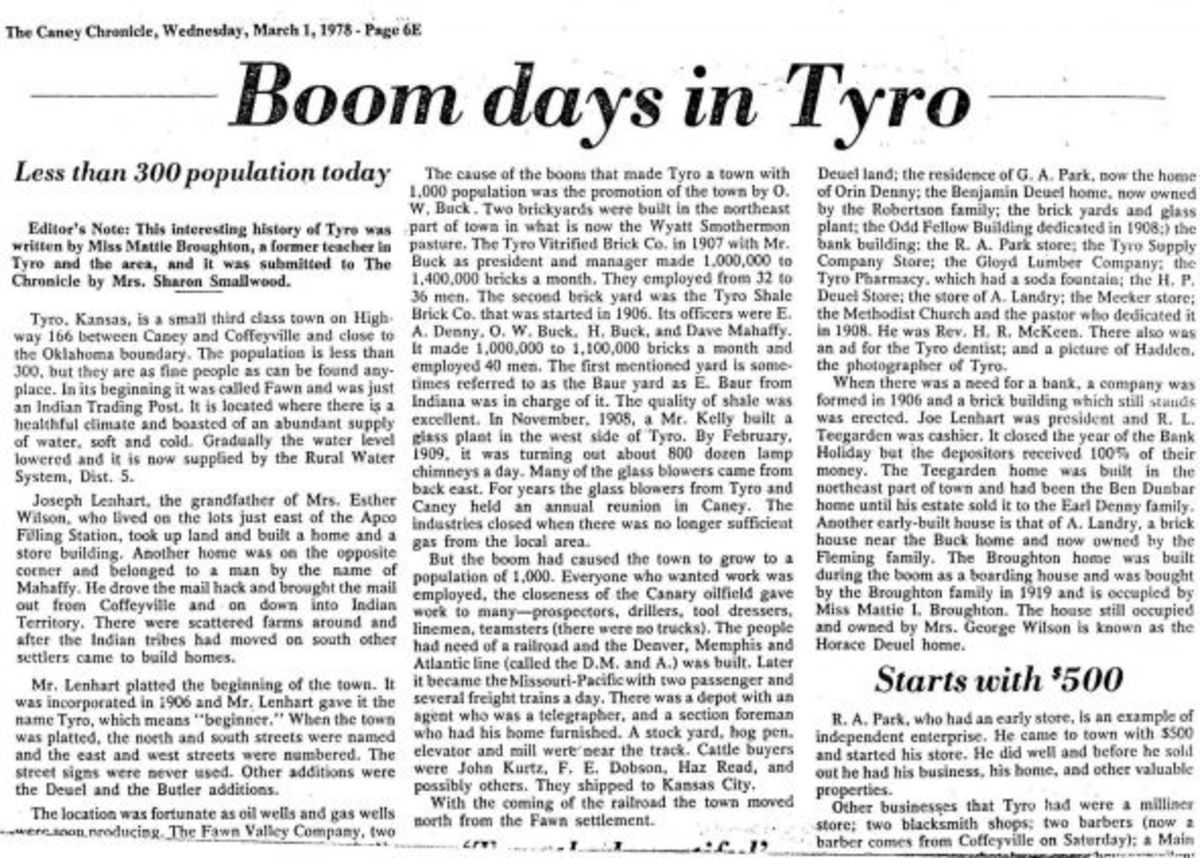 tyro ks newspaper article