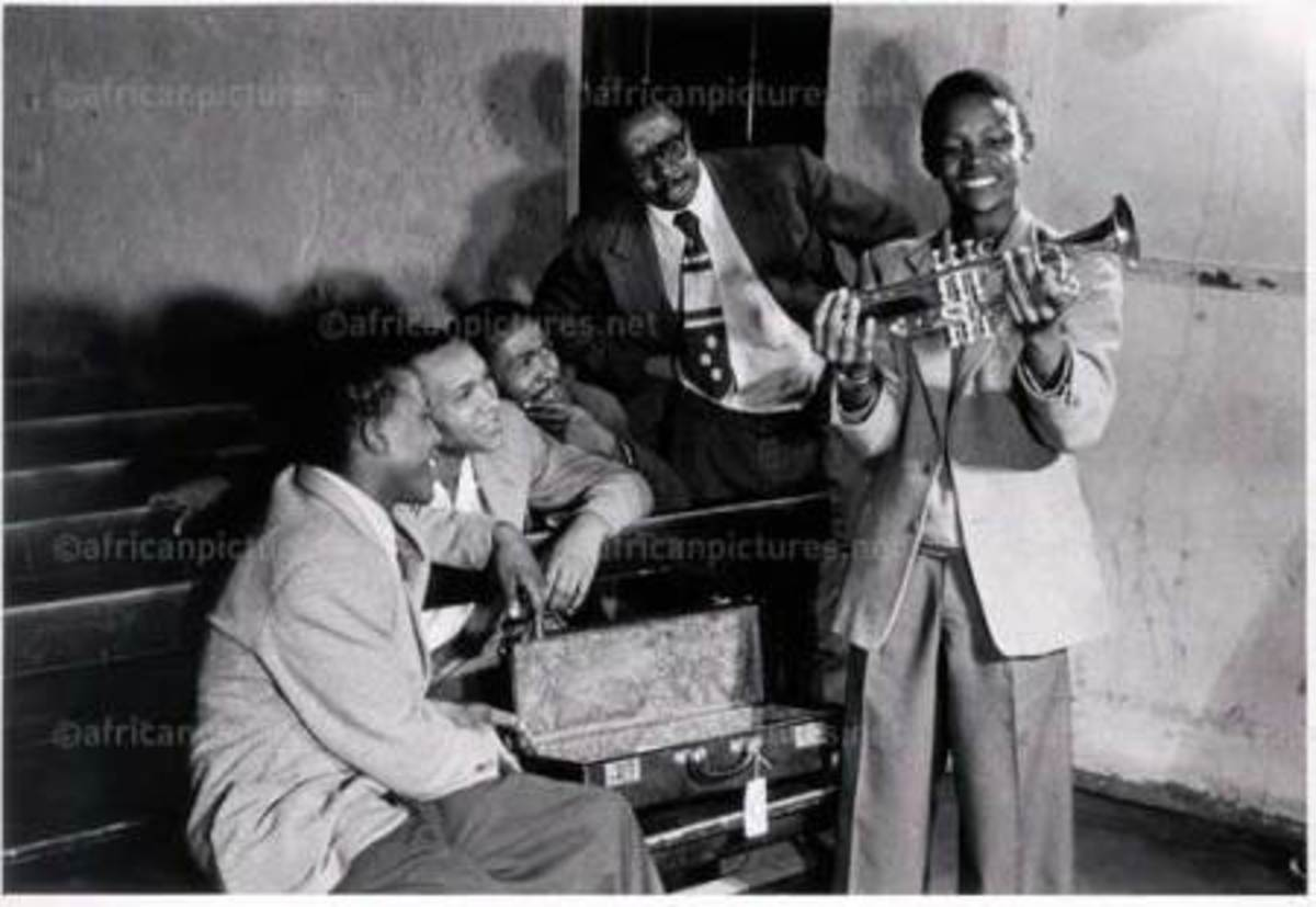 South African Jazz Trumpeter Hugh Masekela..