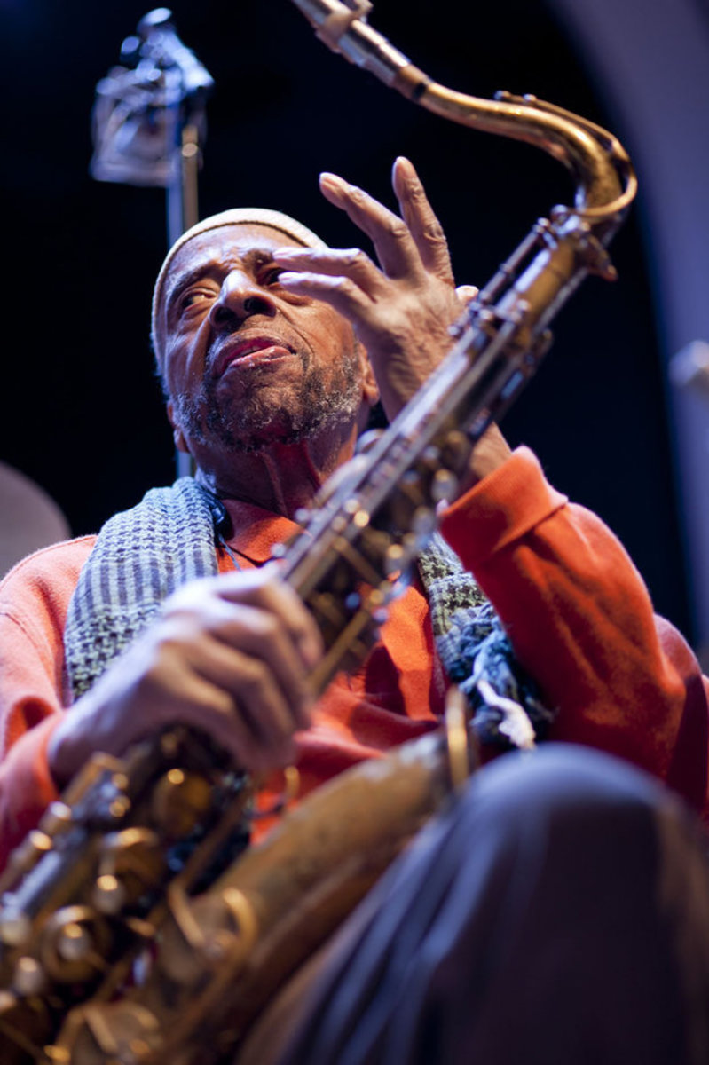 Yusef Lateef at a soundcheck in early 2013.