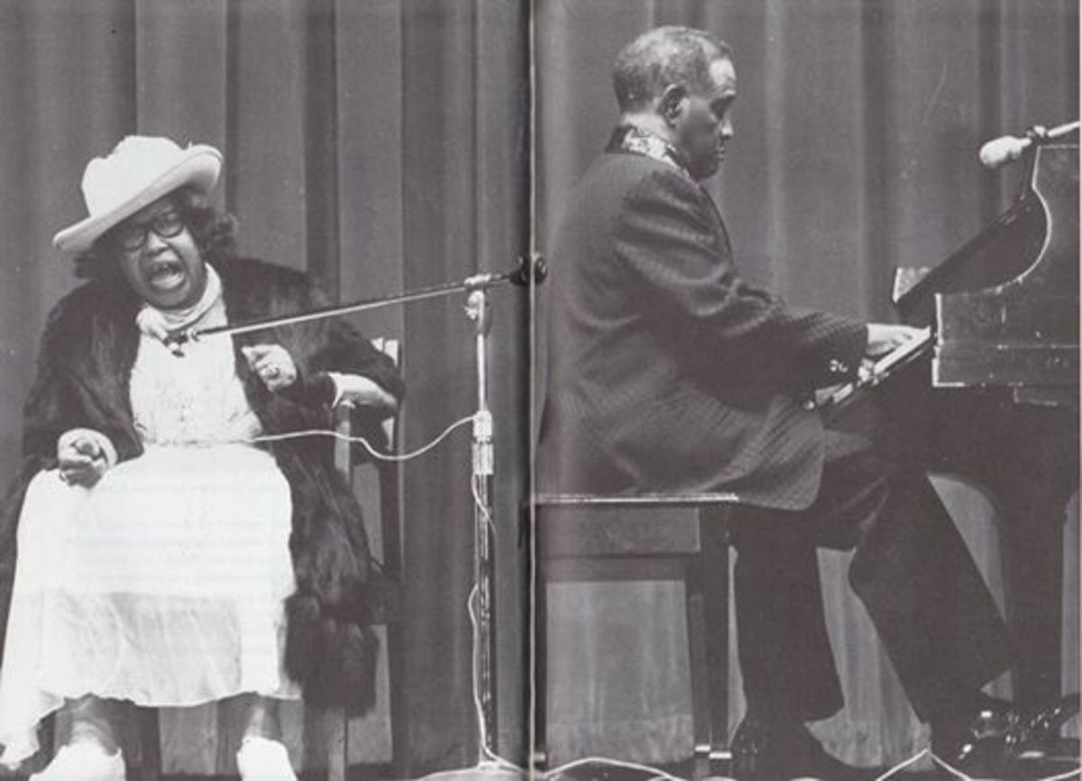 Sippie Wallace and Little Brother Montgomery in concert, Baltimore, 1978
