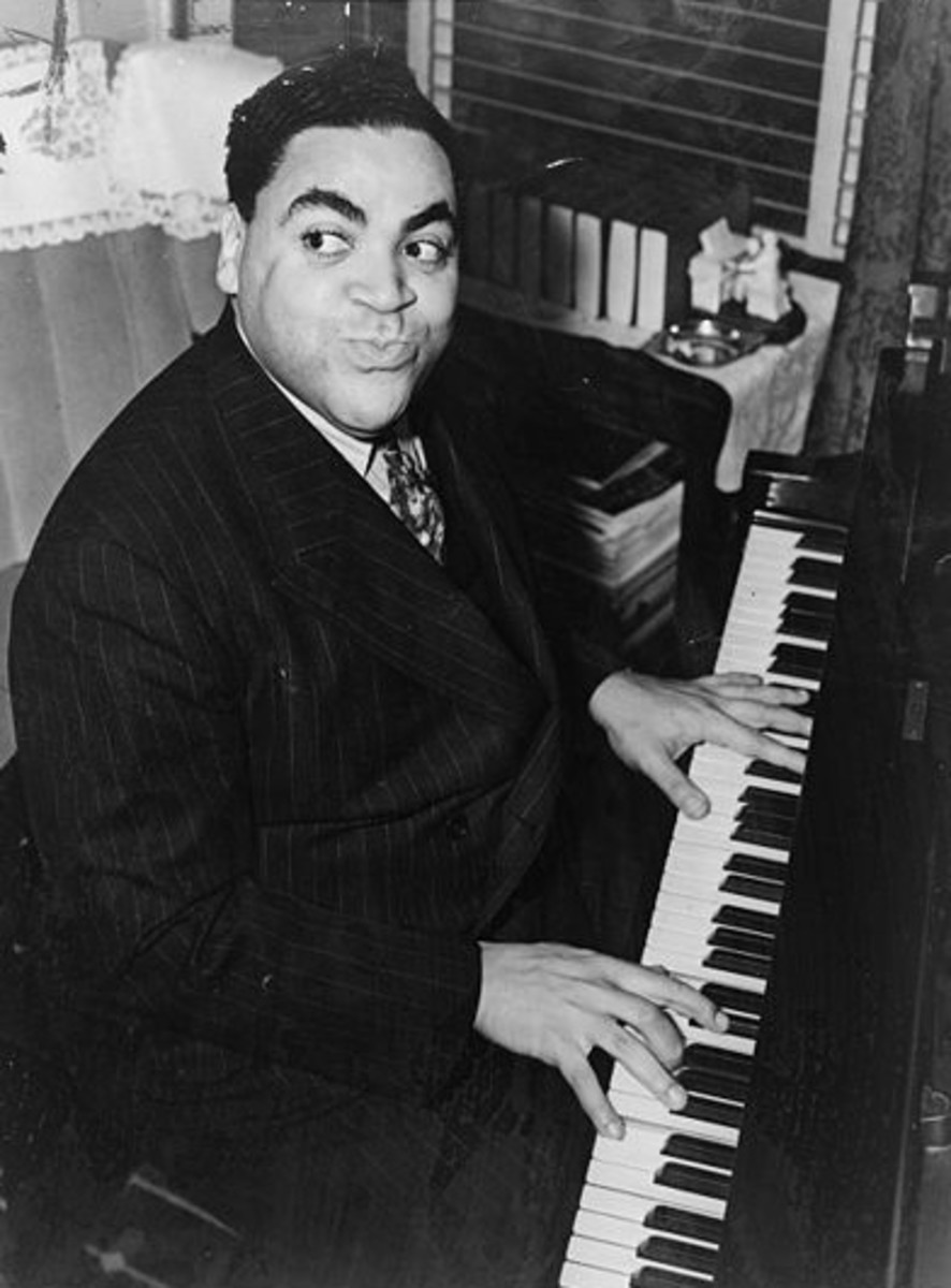Fats Waller was known for his classic compositions and freed his left hand of the Harlem Stride Style from its rigid rhythmic structure, which allowed it to serve a more sophisticated and integrated part of the musical display.