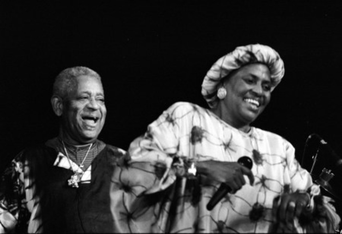 Merriam Makeba with the Great Gillespie