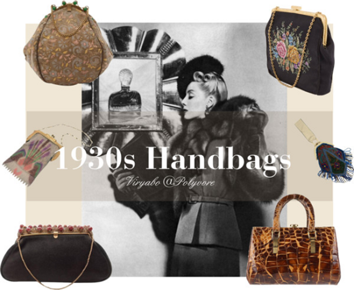 Women's handbags of the 1930s. The vintage-inspired handbags of today have a great feel of the designs and motifs of this era.
