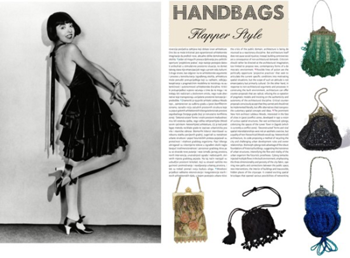 1920s ladies hand bags were flirty, feminine, and many times ornamented.