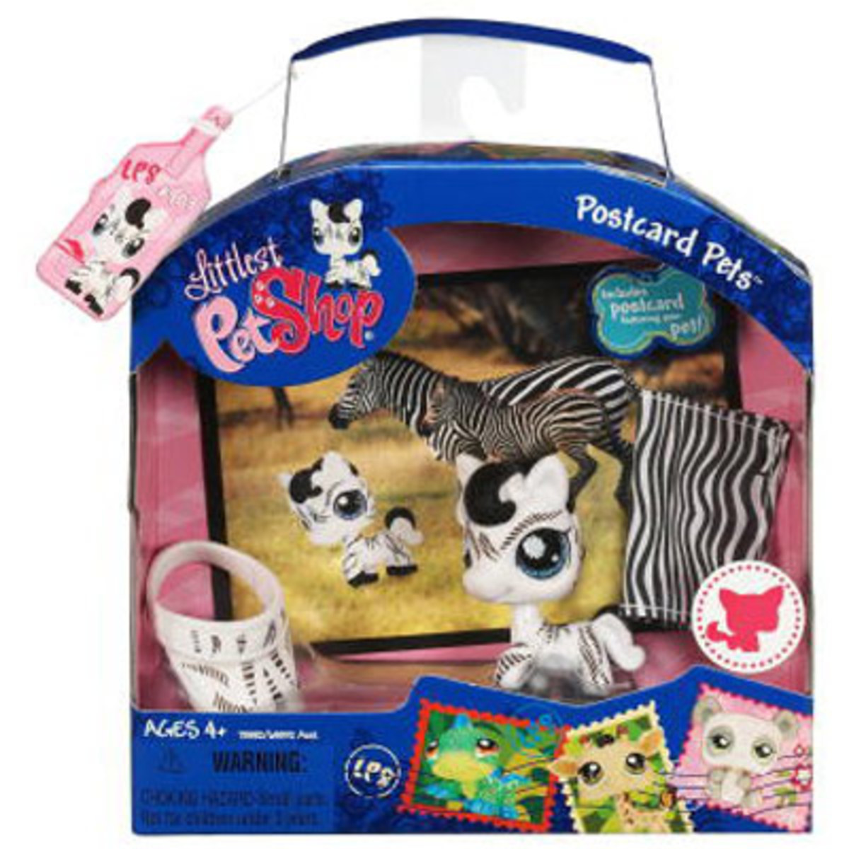 My Littlest Petshop Postcard Pets Zebra figurine is a popular collectible pet in the LPS line by Hasbro. Product images from Hasbro.com